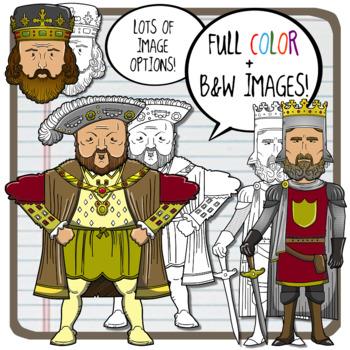 Monarchs, Dictators + Historical Leaders Clip Art