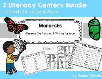 Monarchs First Grade Sight Word Centers - Stamping and Write the Room