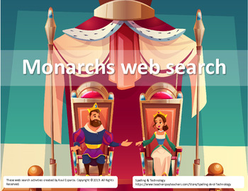 Monarchs Online Web Search for Teens - Fillable PDF