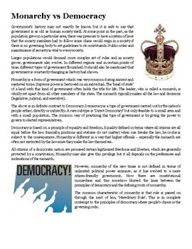 Monarchy vs Democracy