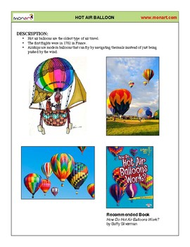 Monart Drawing Project: Hot Air Balloon