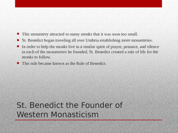Monasticism in the Early Middle Ages