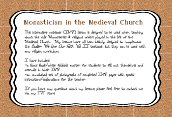 Monasticism in the Medieval Church