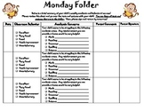Monday Folder - Parent Communication