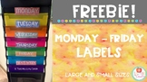 Monday-Friday Labels