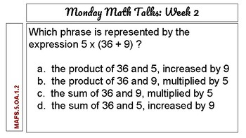 Monday Math Talks - Weekly Preparation for the FSA