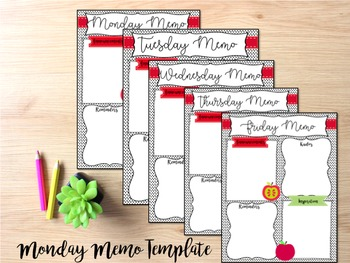 Monday Memo Template- Editable