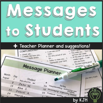 Positive Monday Messages for Students *FREEBIE*