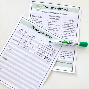 Positive Monday Morning Messages for Students *FREEBIE*