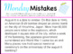 Monday Mistakes Morning/Bell Work Keynote - FULL YEAR!
