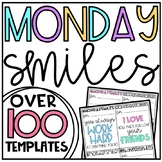 Monday Smiles:: EDITABLE {for PowerPoint and Google}