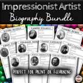 Famous Impressionist Artists Weekly Biographical Worksheet