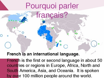 Monde francophone (French-speaking world) powerpoint