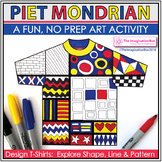 Mondrian Art Activity - Explore Shape and Line