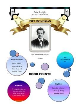 Mondrian Color Primary Art Pack