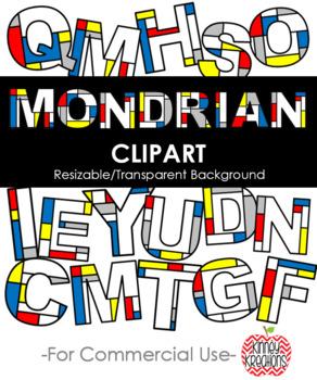 Mondrian Inspired Clip Art