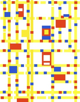 Mondrian-Inspired Frames, Borders, Backgrounds for Commercial Use