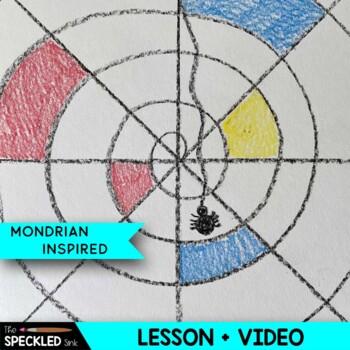 Mondrian Inspired Spider Webs
