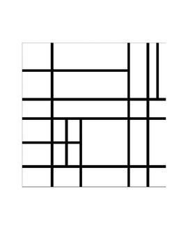 Mondrian Math (Math and Art Integrated Activity)  AND STEM ratio activity
