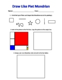 Artist Worksheet: Piet Mondrian