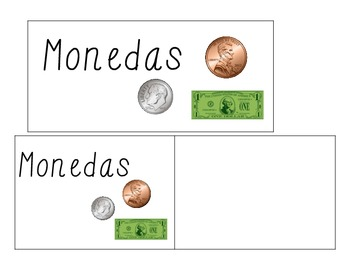 Monedas-Money Word Wall Vocabulary Cards (Spanish)