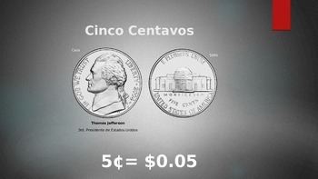 Coins PPT presentation (Spanish)
