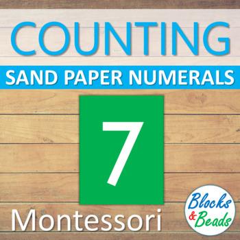 Montessori Sand Paper Numerals Template
