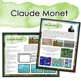 Monet Art Distance Learning/Sub Lesson/One Day Art Lesson