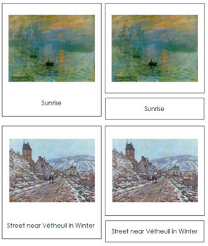 Monet (Claude) 3-Part Art Cards