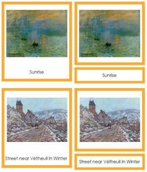 Monet (Claude) 3-Part Art Cards - Color Borders