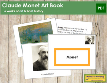 Monet (Claude) Art Book - Color Border