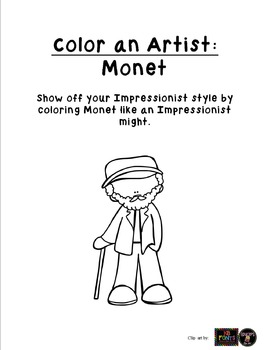 Monet Coloring page