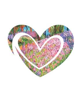 Monet Hearts Clip Art