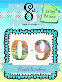 Monet Number Clip Art