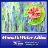 Monet Water Lilies Digital Lesson Plan Easy Art Project