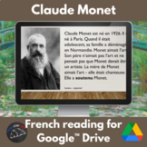 Monet - reading in French - Google drive version
