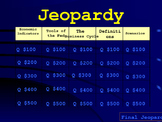 Monetary Policy Jeopardy Game