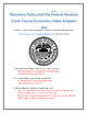 Monetary Policy and the Federal Reserve: Crash Course Economics- Video Analysis