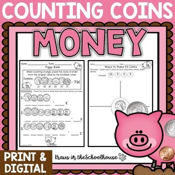 Money - Understanding Coins - Quarters, Dimes, Nickels, an