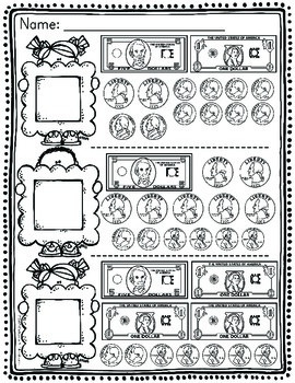 money worksheets by catherine s teachers pay teachers. Black Bedroom Furniture Sets. Home Design Ideas