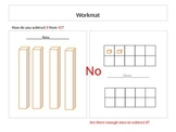 Subtraction using workmat