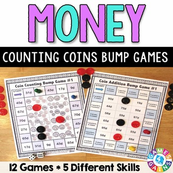 Money Games: 12 Differentiated Counting Coins Games (2.MD.C.8)