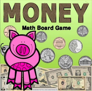 Money Game: Counting Bills and Counting Coins Game {2.MD.8