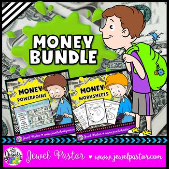 Money Activities BUNDLE (PowerPoint and Worksheets)
