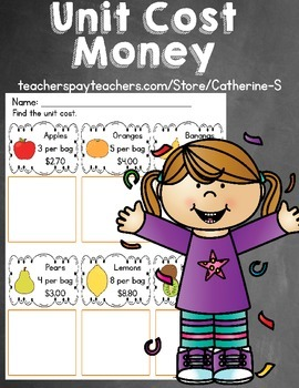 Money Worksheets Unit Cost