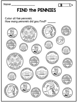 Money Worksheets: Coin Identification Activities
