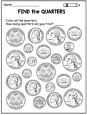 Money Worksheets: Coin Identification Activities