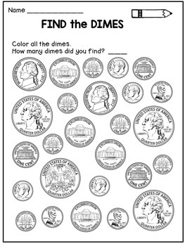 money worksheets coin identification activities by dana 39 s wonderland. Black Bedroom Furniture Sets. Home Design Ideas