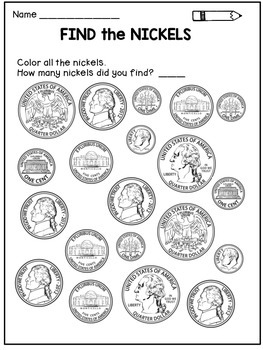 money worksheets coin identification activities by dana 39 s wonderland. Black Bedroom Furniture Sets. Home Design Ideas