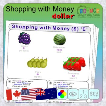 Money 2 (12 distance learning worksheets for Money) FREE